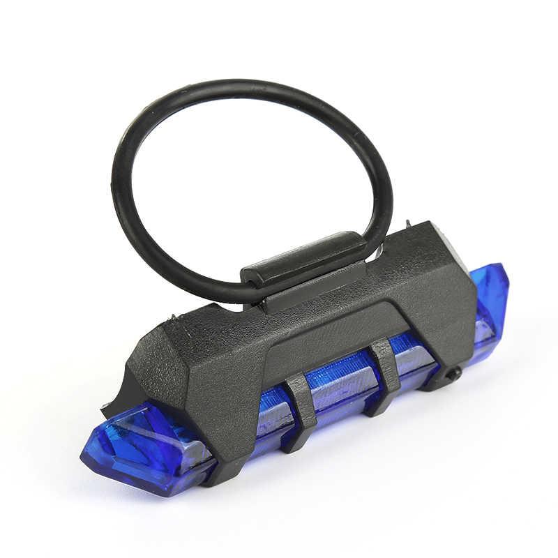 5 led 充電式 usb 自転車テールランプ自転車安全警告リアランプポータブルフラッシュライトスーパーブライト