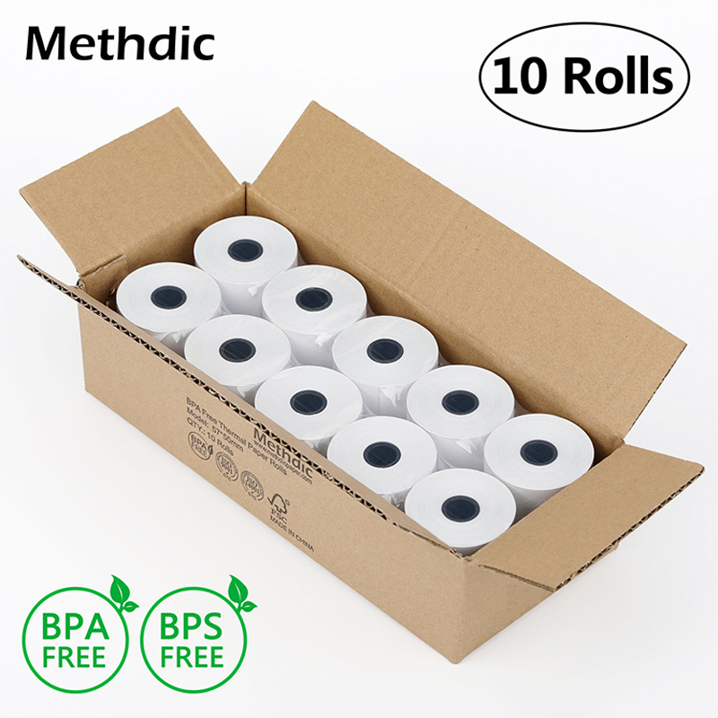 Methdic 10rolls 57x50mm Thermal Receipt Paper Rolls BPA/ BPS Free Cash Register Receipt Roll