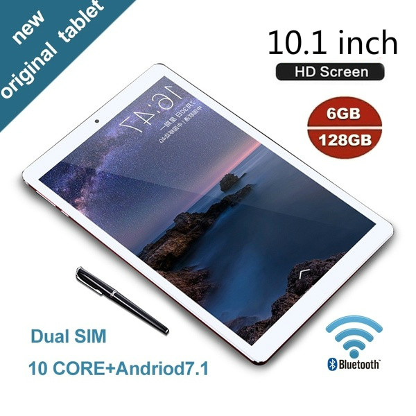 2020 New Arrival 10.1 Inch Tablet 6G+128GB Android 8.1 Tablet Dual SIM Dual Camera 4G WiFi  Phone Call Tablet PC