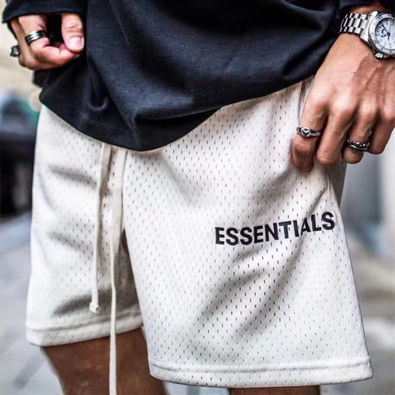 Mesh Essentials Boxy FOG Shorts Men Wome 1:1 High-Quality Fashion Essentials Shorts