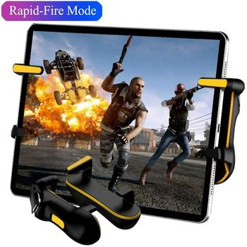 For PUBG Gamepad Trigger Game Controller Fire Button Aim Key Grip Games Handle Joystick For Ipad Tablet Phone Mobile Shooting