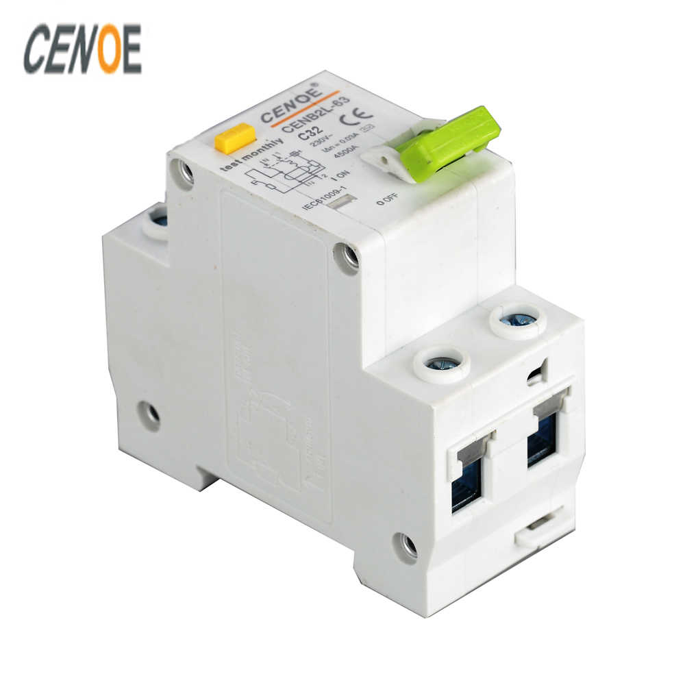 the latest fashionable shape CE short circuit and Leakage protection DPNL 1P+N 32A 230V 50HZ/60HZ earth leakage Circuit breaker