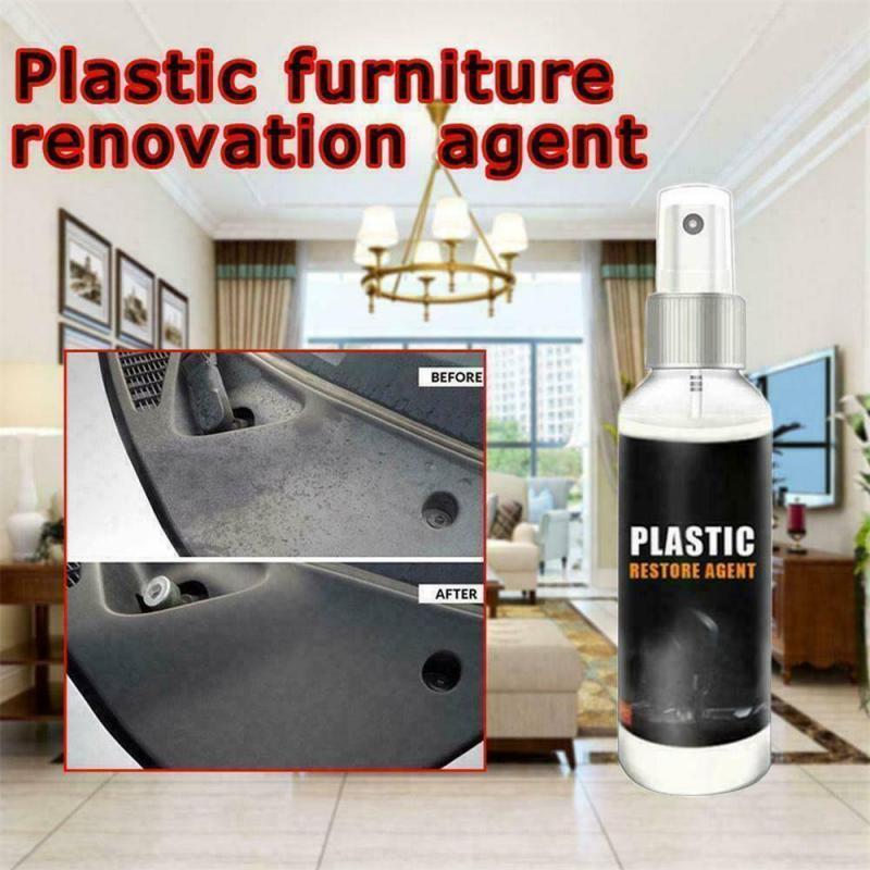 Car Interior Plastic Parts Wax Retreading Agent Renewed Plastic Restore Cleaner For Car Van Suv Motorcycle Motorbike Bike TSLM2