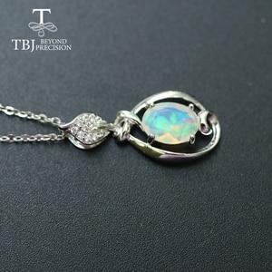 Image 2 - Opal mały wisiorek naturalny kamień etiopii w 925 sterling silver prosta konstrukcja biżuterii ładny prezent na boże narodzenie dla dziewczyny, mama