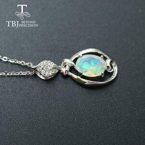 Image 2 - Petit pendentif en pierre précieuse dethiopie naturelle en argent sterling 925, design simple, bijou fin, joli cadeau de noël, pour fille et maman