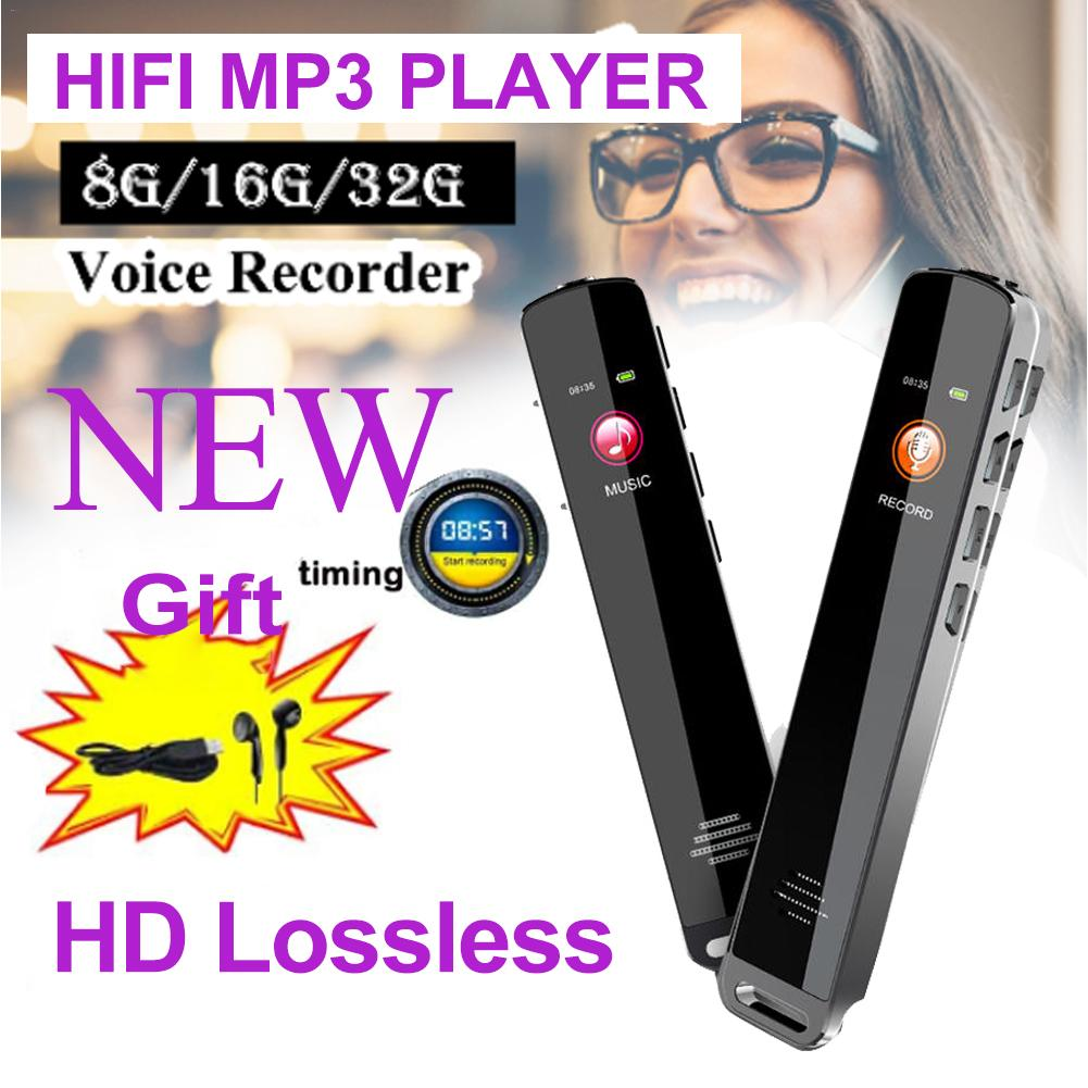 8G/16G/32G MP3 Player Voice HD Recorder 16GB HIFI With FM Radio Lossless Movie Music Player 30 Hours Playback For Running
