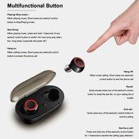 Auricolari senza fili Sweatproof Bluetooth In Ear Mic Cuffie Stereo di Pompaggio Bass Cuffie per Lo Sport Palestra di Allenamento PUO88