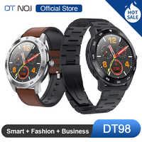 DTNO.I No.1 DT98 Smart Watch IP68 Waterproof 1.3 Full Round HD Screen ECG Detection Multi Dials Smartwatch Fitness Tracker Men