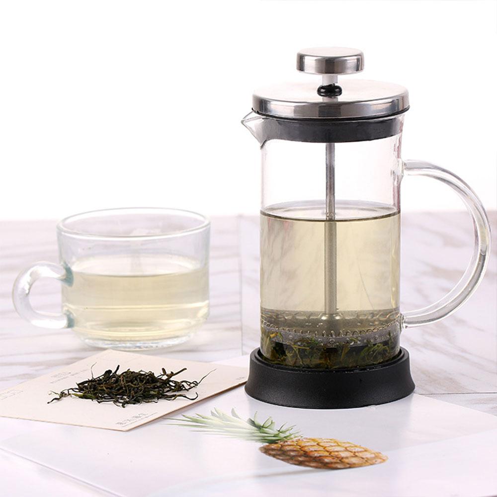 Filtration  Coffee Maker Durable French Press Filter Heat Resistant ShatterProof Elegant High Grade Coffeepot Teapot Glass|Coffee Pots| |  - title=
