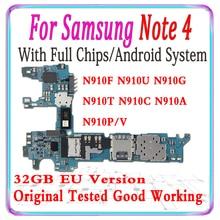 100% 삼성 Galaxy Note 4 N910U N910G N910F N910T N910C N910A N910P N910V 32gb 마더 보드 MB