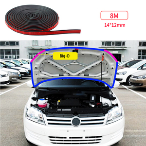 Image 5 - 4M 8M Big D Type Car Door Rubber Seal Filler Adhesive Noise Insulation Anti Dust Waterproof Weatherstrip Car Door Sealing Strip