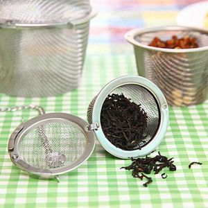 Кухонный многоразовый сетчатый шарик для чая, нержавеющая сталь, кофейная тушь, для специй, супа, травяного сита, фильтр, цепочка для саше