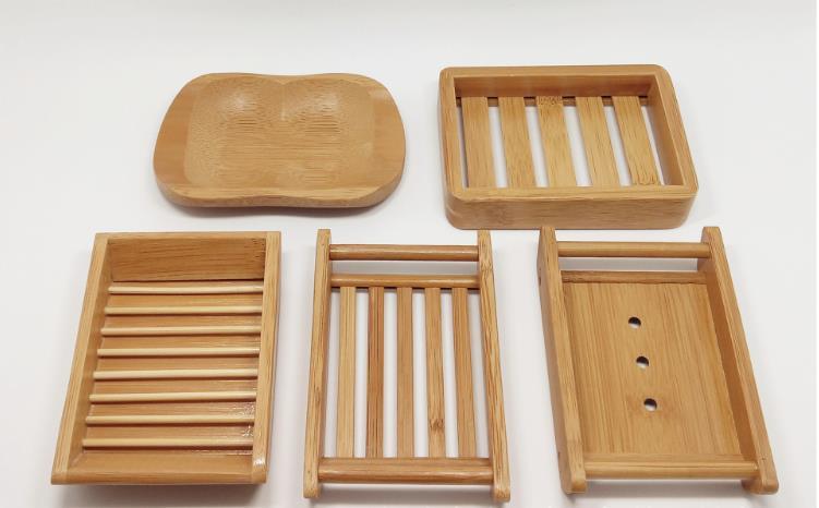 Estilos de Bambu Recipiente para Banho Placa do Banheiro Saboneteira Natural Sabão Titular Armazenamento Rack Placa Caixa Chuveiro Sn3079 8