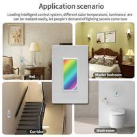 UK&EU Regulation Wifi Wall Mounted LED Light Smart Switch Wifi Wireless Control Application Smart Home Touch Switches