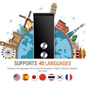 Image 2 - Портативный Умный переводчик голоса в режиме реального времени, многоязычный переводчик речи, интерактивный переводчик 3 в 1, переводчик голоса, BT