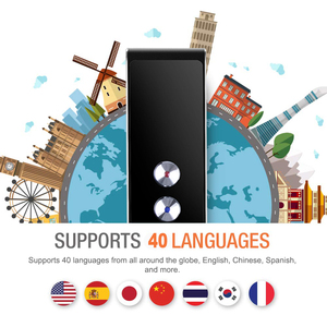 Image 2 - Taşınabilir akıllı ses tercüman gerçek zamanlı çoklu dil konuşma interaktif çevirmen 3 in 1 ses metin BT çevirmen