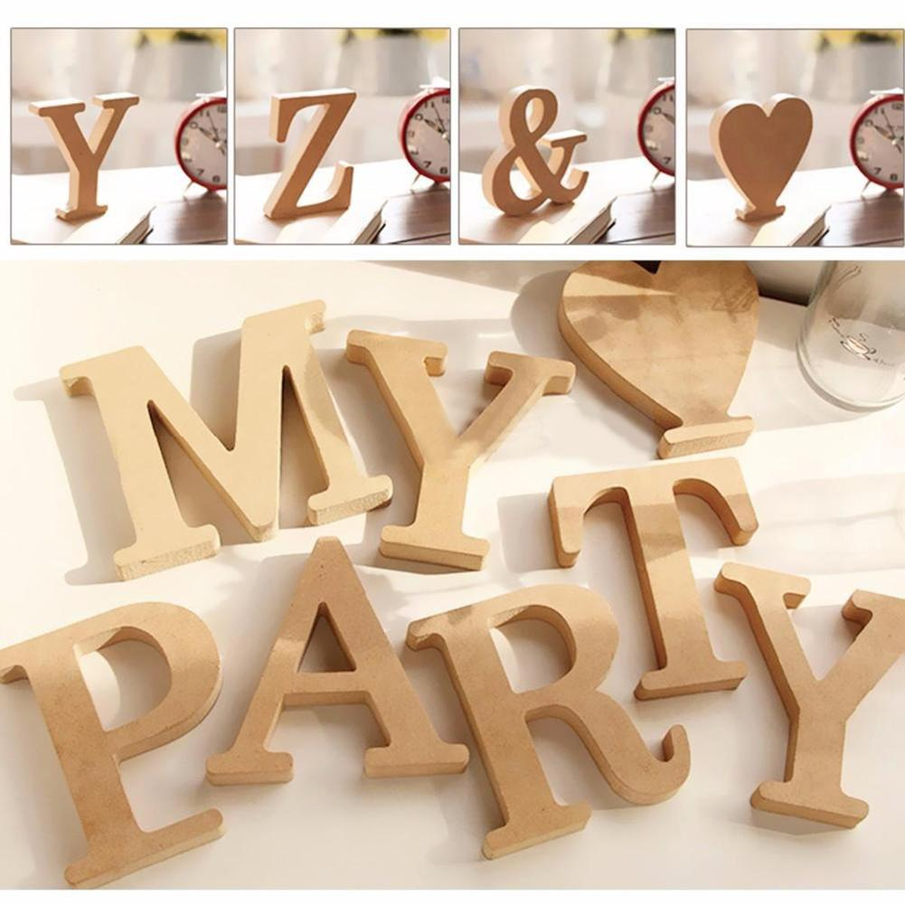 Hot Sale Large Size Retro Wooden Capital Letters Alphabet DIY Personalised Name Design Art Craft For Home Wedding Party Deco
