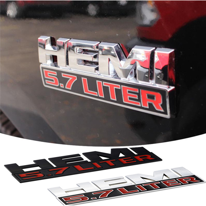 BIG HORN Logo emblem for rear trunk lid Tailgate trunk ABS letters sticker for D-ODGE Ram JCUV Caliber,Red