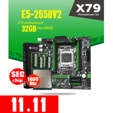 HUANAN ZHI X79 ZD3 اللوحة الأم M.2 NVME MATX مع إنتل سيون E5 2650 V2 2.5GHz وحدة المعالجة المركزية 4*8GB = 32GB DDR3 1600MHZ ECC/REG RAM