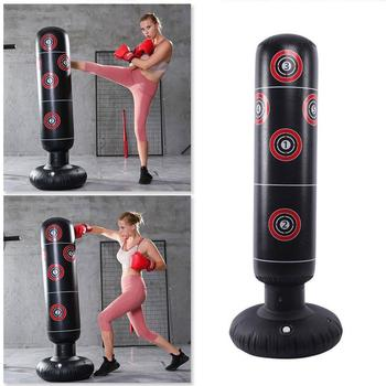 1.45 / 1.55 / 1.6M Inflatable Boxing Punching Bag Stress Bag Bag Tower Sandbag Adult Punch For Children Target Speed Tumble B8L5 image