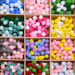 Mix Color 15mm 2mm 2.5mm 3mm Mini Pom Poms Decoration Pompom Ball Furball Home Wedding Decor DIY Sewing Craft Supplies