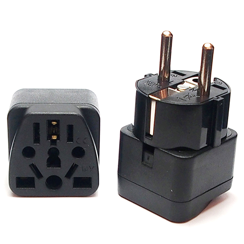 New Universal Italy Switzerland India UK US AU To EU German Russia AC Power Socket Schuko Plug Travel Charger Adapter Converter