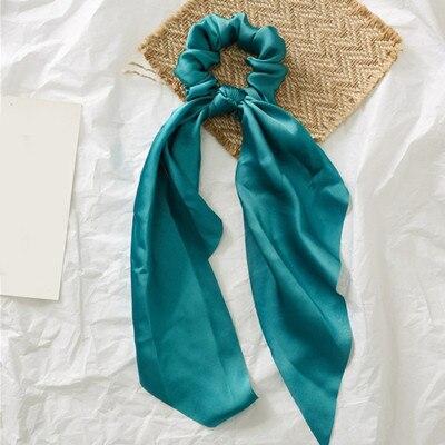 Модный летний шарф «конский хвост», эластичная лента для волос для женщин, бантики для волос, резинки для волос, резинки для волос с цветочным принтом, ленты для волос - Цвет: 0004