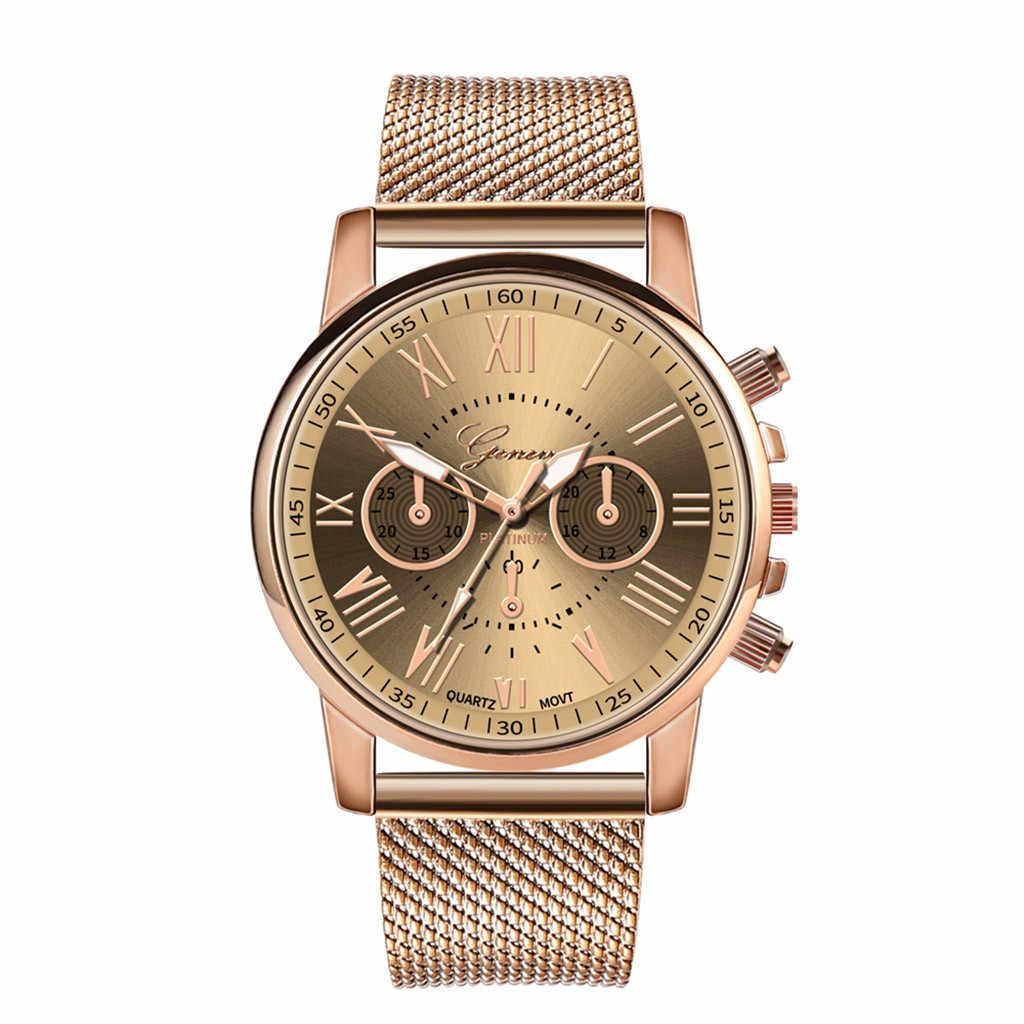 Reloj mujer lüks bayan izle kuvars spor askeri paslanmaz çelik arama deri Band kol saati bayan kol saati