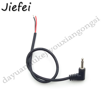 4Pcs Right angle 90 degrees 3.5mm Mono Headset male Plug with cable 2 pole 3.5 mm Audio Jack Adapter Connector 25cm 20AWG - sale item Electrical Equipment & Supplies