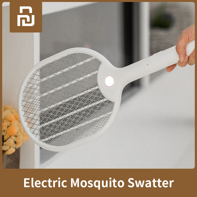 Xiaomi Mijia Electric Mosquito Swatter Three-layer Anti-electric Shock Net USB Charging LED Mosquito Dispeller For Smart Home