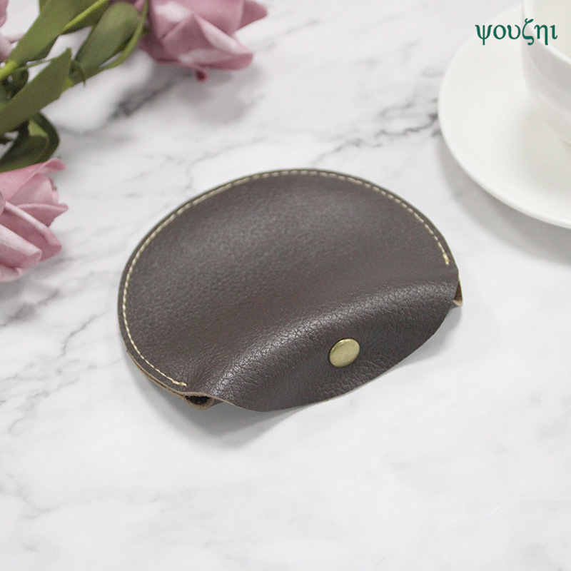 PU Leather Mini Portable Purse Wallet Snap Closure Card Holder Bank Card Bus Card Coin Bag