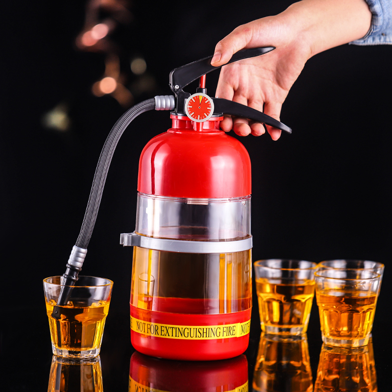 2L Creative Wine Drink Dispenser Fire Extinguisher Pourer Party Beer Water Dispenser Beer Barrels Beverage Liquor Bar Accessory(China)