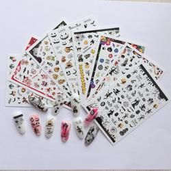 3D Nail Sticker Halloween dark wind gold and silver ultra-thin adhesive Adhesive Nail Art Tattoo Decals for DIY Decor Wraps