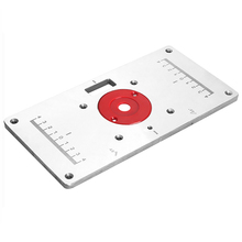 Woodworking Trimming Machine Flip Board Kit Aluminum Alloy Router Table Insert Plate Wood Trimmer Models 235*120*8mm