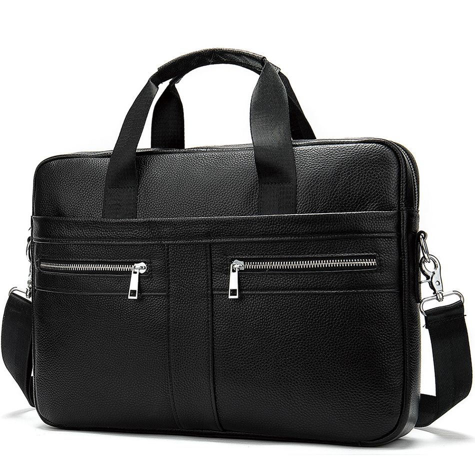 Men Handbag Genuine Leather Briefcase High Quality Brand Business Crossbody Messenger Bags Male Laptop Bag Cowhide Briefcases
