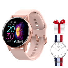 Smartwatch IP68 Waterproof Fitness Tracker Women Heart Rate Monitor Blood Pressure Oxygen Smart Watch Clock For Android IOS+Gift colmi smart watch oled screen heart rate blood oxygen pressure brim ip68 waterproof activity tracker for android and ios phone