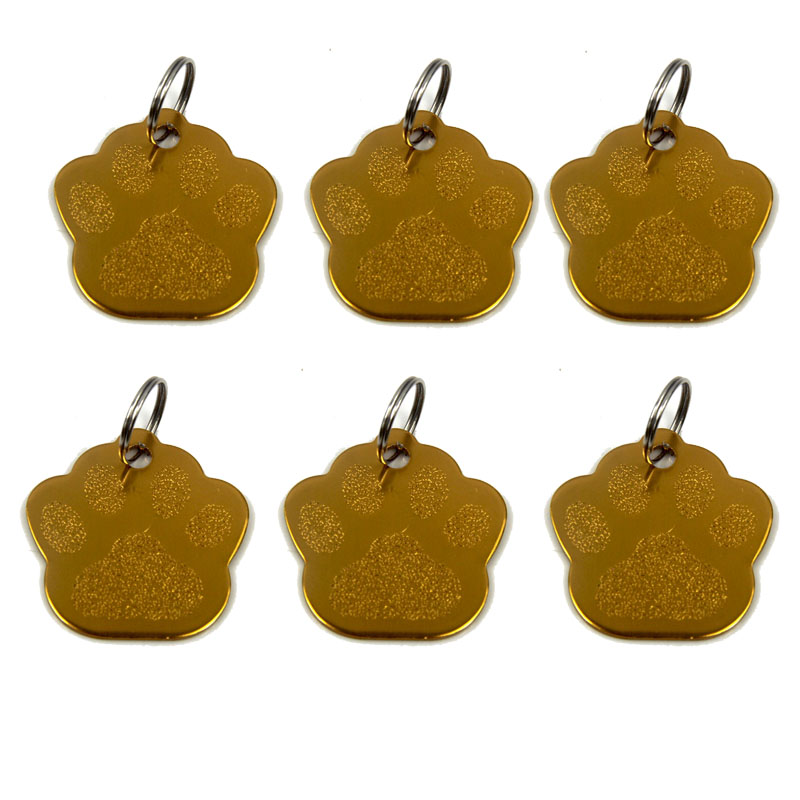 Wholesale 3D Exquisite PAW Shape Pet Dog ID Tags Custom Engraved Name Phone No. Cat Dog ID Tag Personalized Pet Supplies