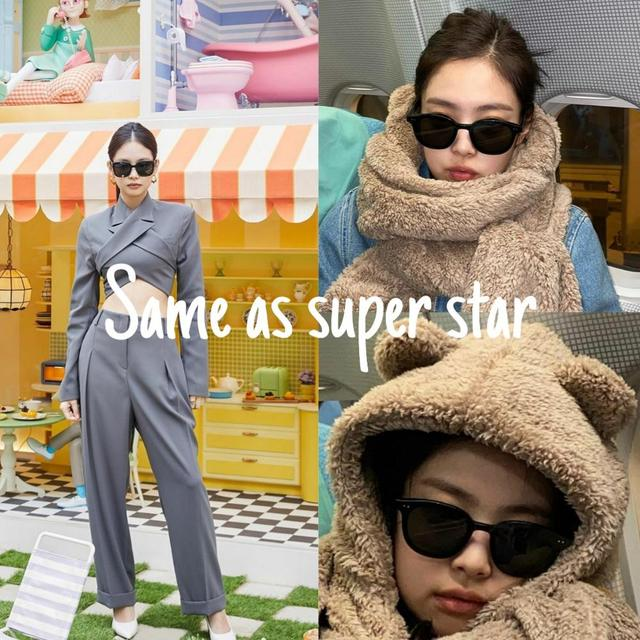 CAPONI Gentle Jennie Sunglasses 2020 Her Women Sunglasses Korea Famous Brand Unisex Star Fashion Vintage Lady Sun Glasses GM2020