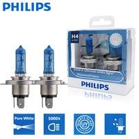 Philips-bombilla halógena para faro delantero de coche, luz superblanca H4 9003 12V 60/55W P43t Diamond Vision 5000K, 12342DVS2, 2 uds.