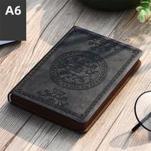 2021 nowy przenośny wzór Vintage notatnik ze sztucznej skóry pamiętnik notatnik biurowe prezent