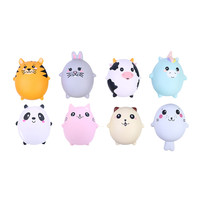 8Pcs Adorable Animals Slow Rising Cream Scented Stress Relief Soft Novelty Toy
