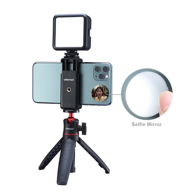 ULANZI הקלטת וידאו Vlog ערכת מיקרופון חצובה טלפון מחזיק קליפ הר עבור YouTube לחיות Vlogging Smartphone iPhone אנדרואיד