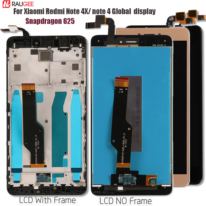 Display For Xiaomi Redmi Note 4 LCD Display Touch Screen Replacement For Redmi Note 4X 4 X Snapdragon 625 Octa Core Display5.5''