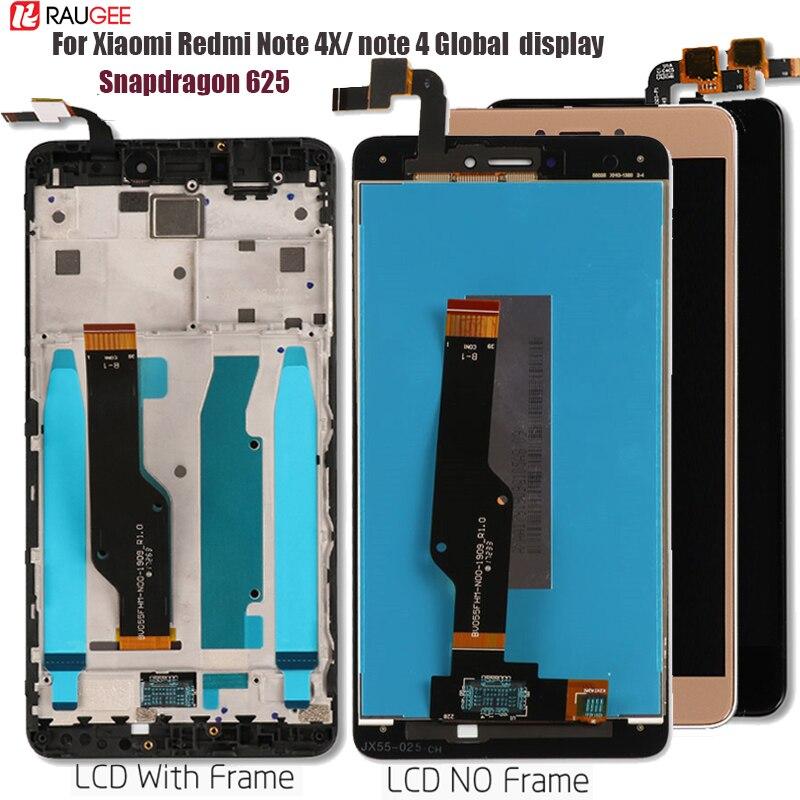 Xiaomi Redmi için not 4 4X küresel dokunmatik LCD ekran ekran değiştirme Redmi not 4 Snapdragon 625 Octa çekirdek ekran 5.5''