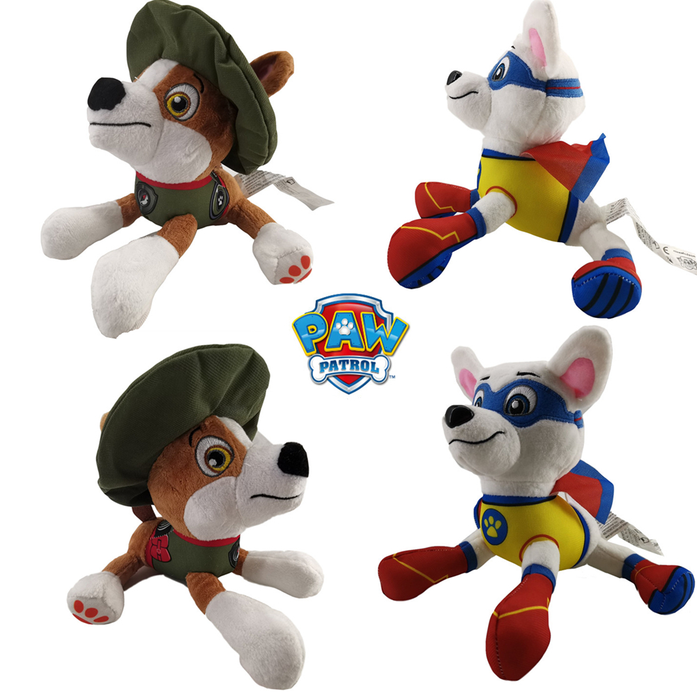 New Paw Patrol Dog Plush Toy Animated Character Tracker Dog And Apollo Dog Dog Patrol Action Figure Children Birthday Gift