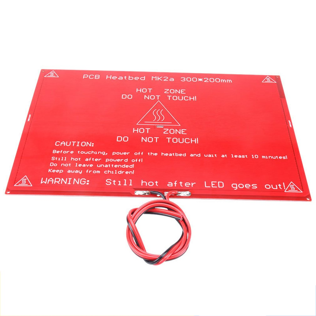 MK2A Heated Bed PCB Heatbed 12V Red Heating Hot Bed 3D Printers Set Large Size Hot Bed PCB Hot Plate 3D Printer Heating Plate