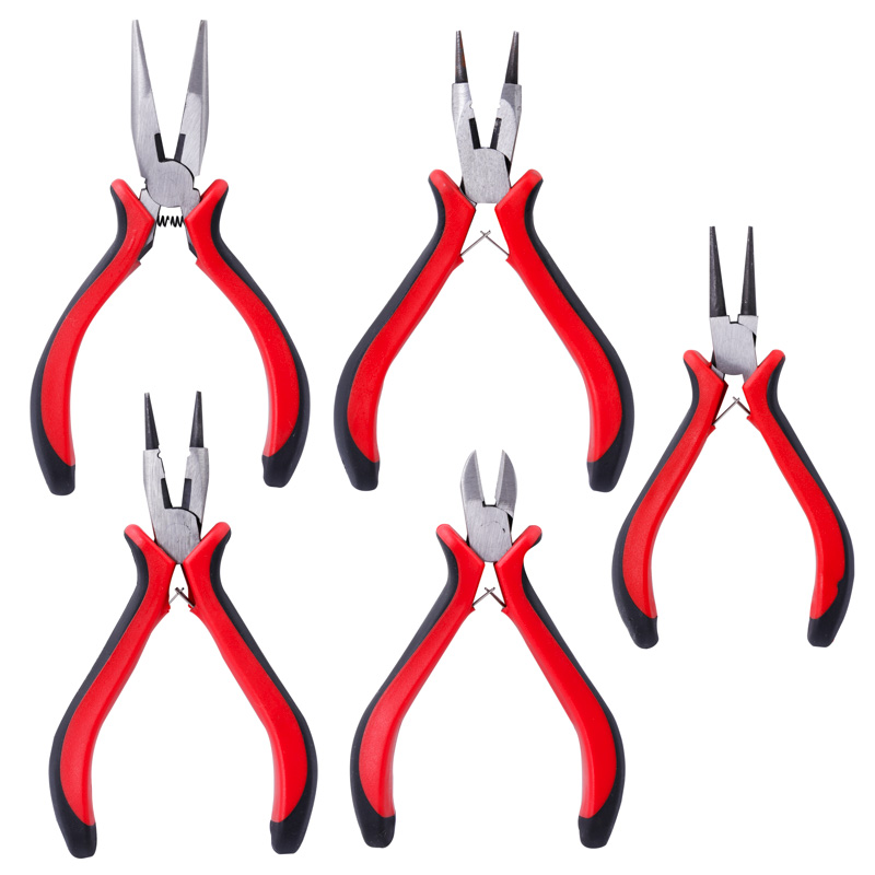 Wholesale DIY Accessories Hardware Tools Pink Vise Black Round Head Sharp Mouth Wire Cutting Pliers