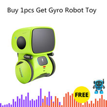 Children Intelligent Interactive RC Robot Acoustic Interaction Singing Touch Sensitive Voice Control Smart Kids Early Toy Gift(China)