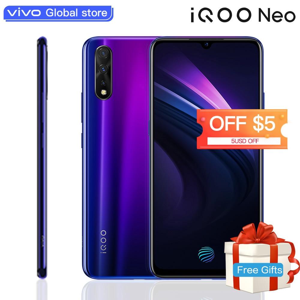 Original Vivo IQOO Neo Smartphone 6GB 128GB Android 9 Snapdragon 845 4500mAH 3 Cameras Super Amoled 6.38