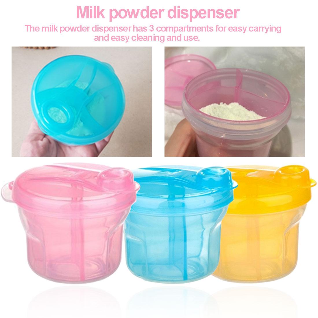 Milk Powder Dispenser Portable Baby Milk Powder Formula Dispenser Container Storage Feeding Box For Kids